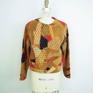 Vintage Papillon Patchwork Leather Jacket Festival